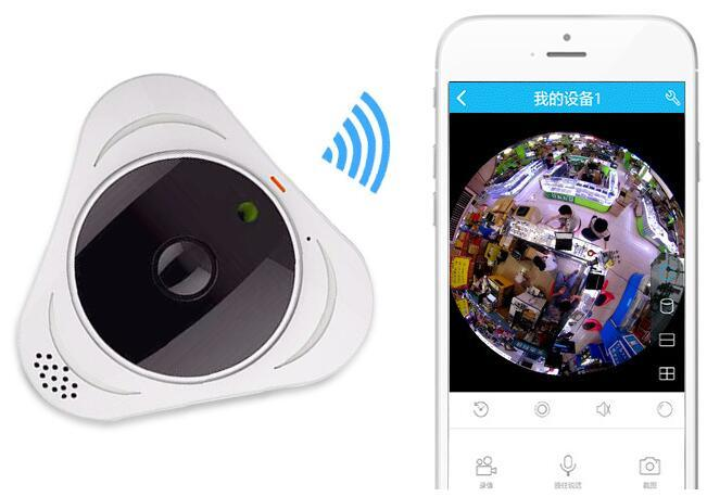 Fish Fish Eye Camera 3D 360 HD 960p WiFi IP Vr Lens