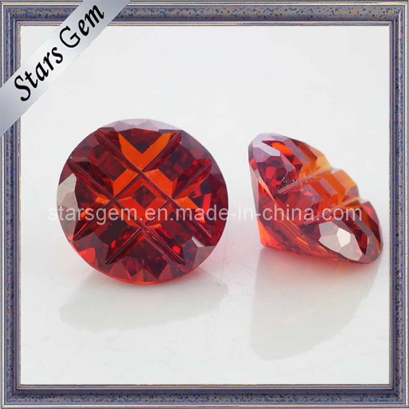 Garnet Special Cut Cubic Zirconia Gemstone for Jewelry