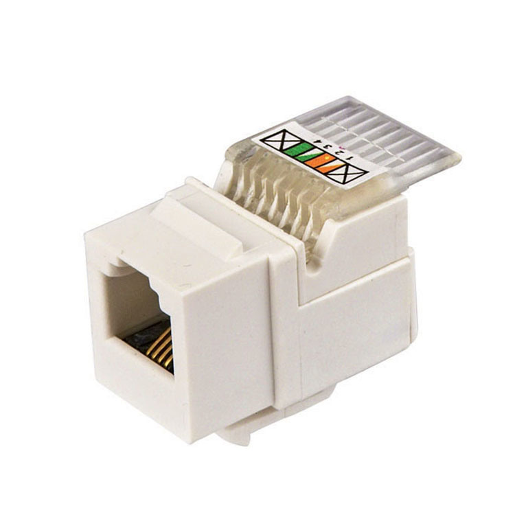 Ampbrand CAT6 RJ45 90 Degree 8p8c Tooless Keystone Jack