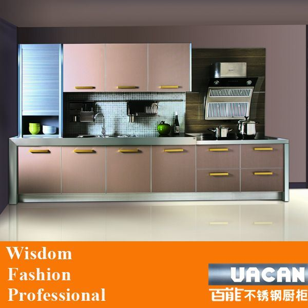 simple design moisture proof melamine kitchen cabinets wooden kitchen - Simple Kitchen Cabinets Pictures