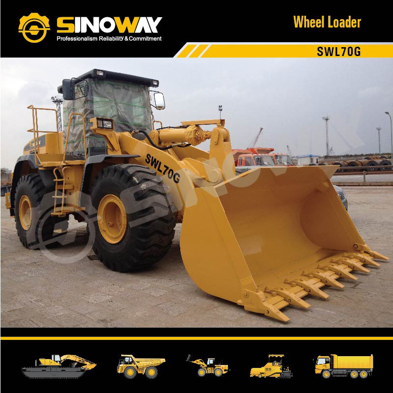 7 Ton Wheel Loader with 3.0m3 Bucket