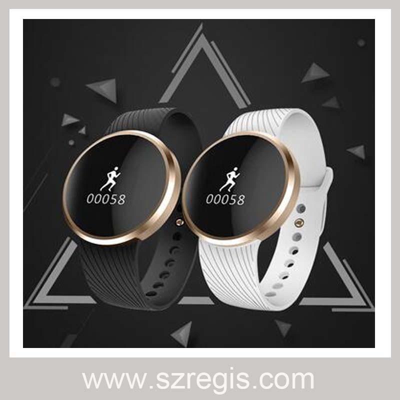 "0.66"" High-Definition OLED Waterproof Silicone Smart Watch Digital Watch"