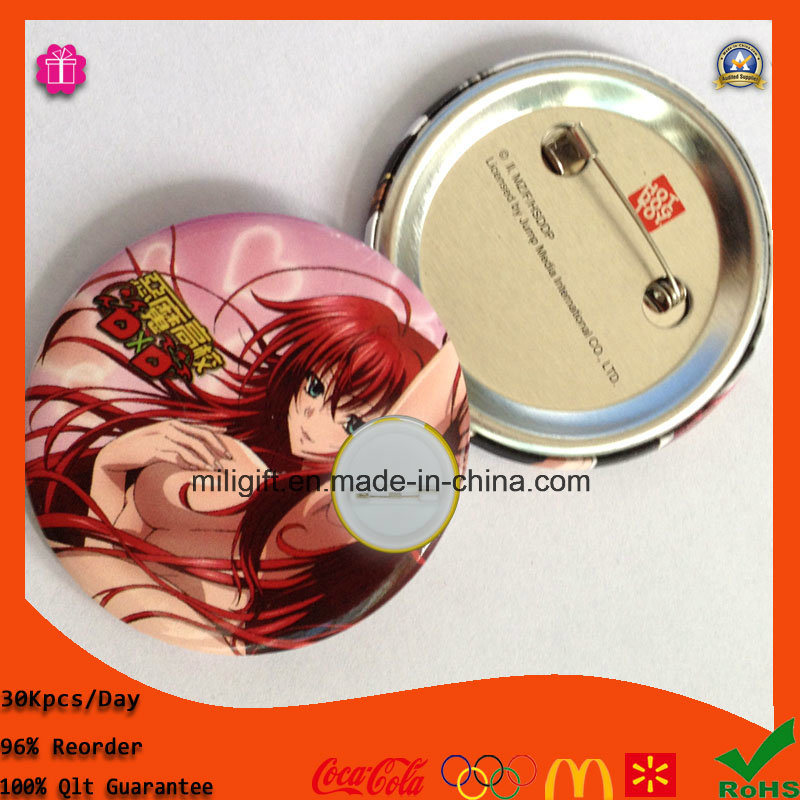 Hot Custom Metal Pin Badge Tin Button Badge for Party
