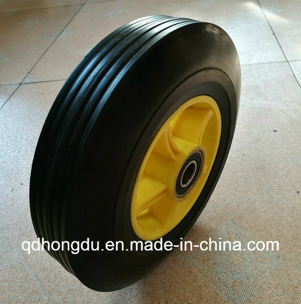 Plastic or Steel Rim Solid Rubber Wheel (10 Inches)