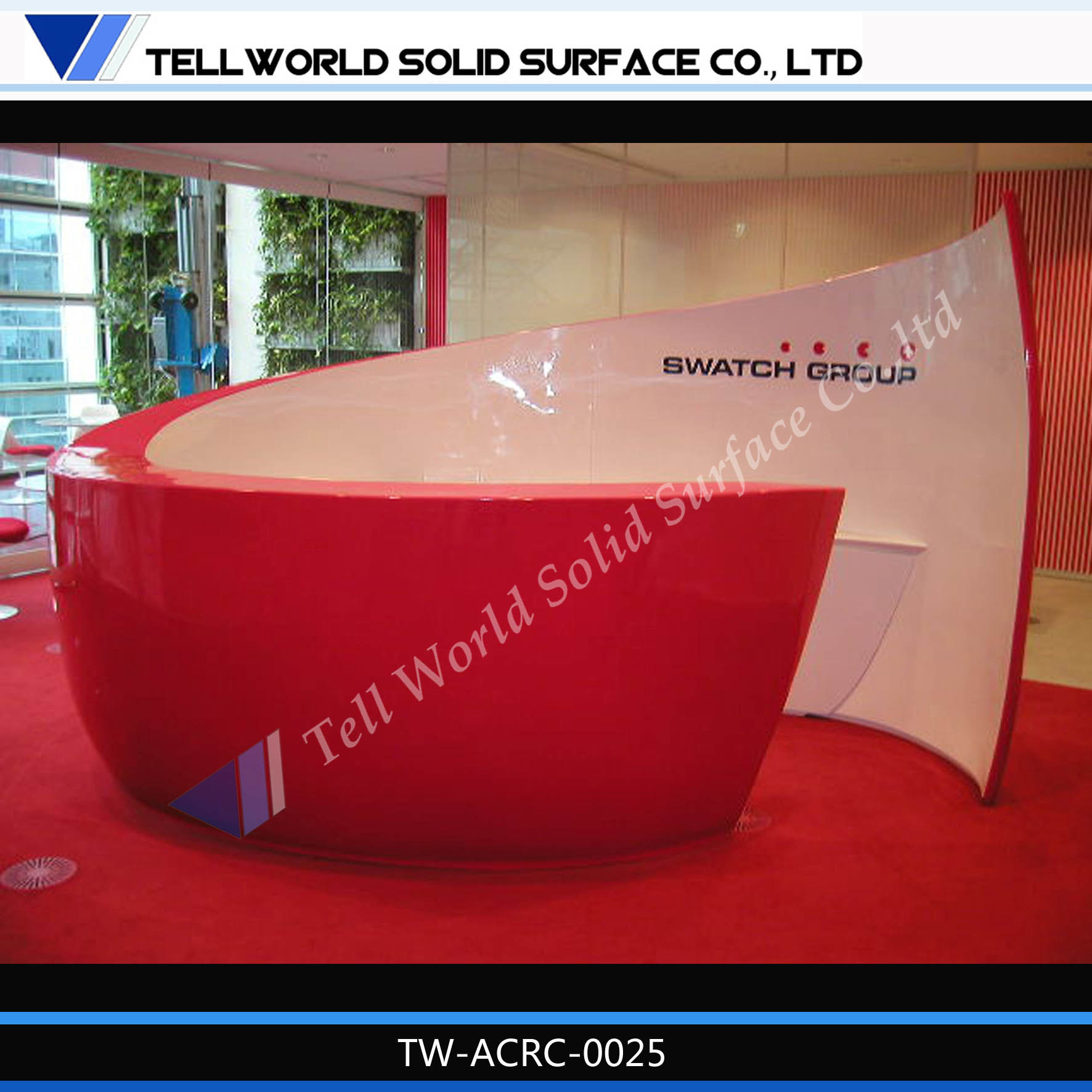 China Modern Design Hot Sale Beauty Salon Reception Desk