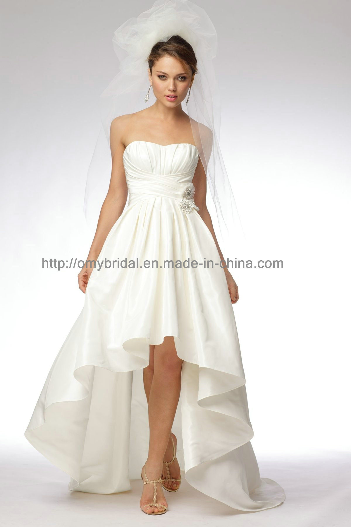 China hi low wedding dresses sd039 china wedding dress for Wedding dress high low