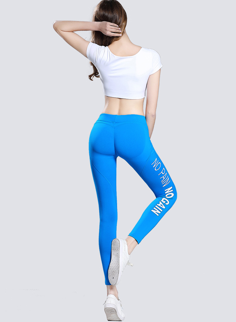Dry Fit Sexy Women Yoga Pants, Black Yoga Leggings with Printing