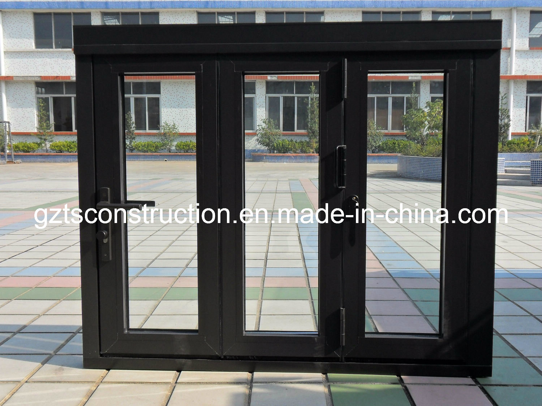 Customzied Double Glazing Aluminium Casement Window with Roller Shutter