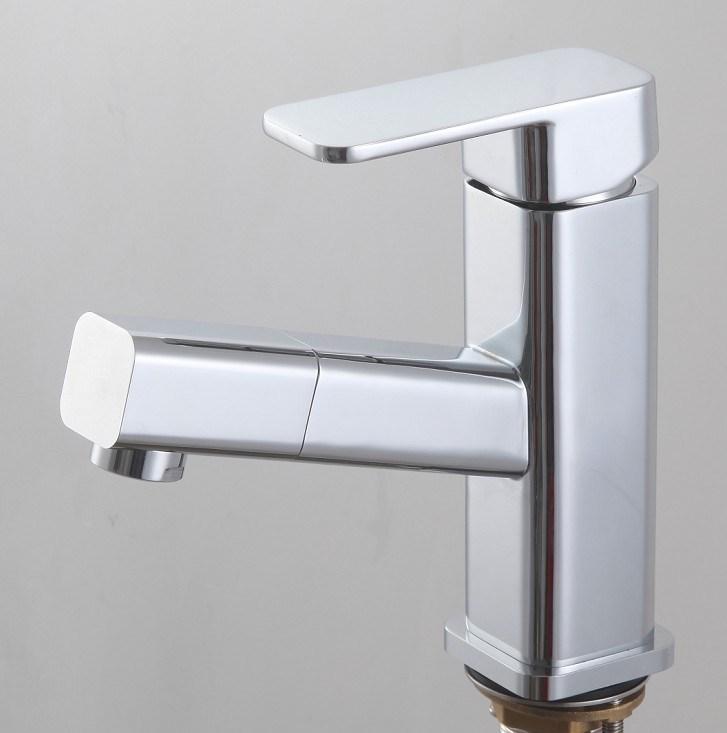 Basin Mixer Waterfall Tap Lavatory Faucet, Chrome Finish