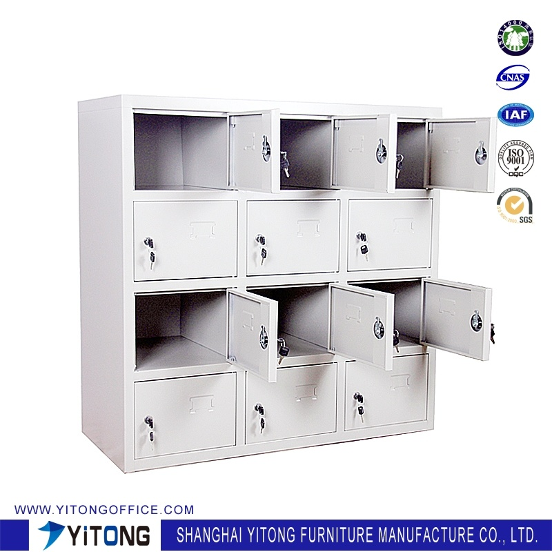 Yitong 12-Door Metal Storage Cabinet / Office Use Steel Shoe Cabinet Locker