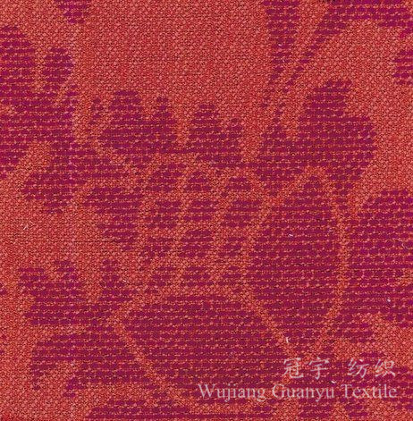 jacquard Chenille Polyester Yarn Dyed Fabric for Curtain