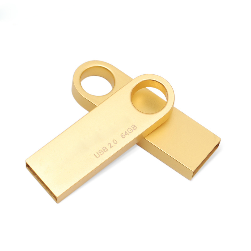 Free Logo Water Proof 8g Dtse9 USB Flash Drive (gold, silver)
