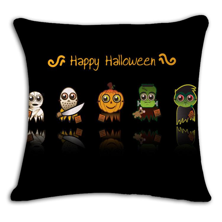 Hollween Designed Decoration Printed Pumpkin Cushions
