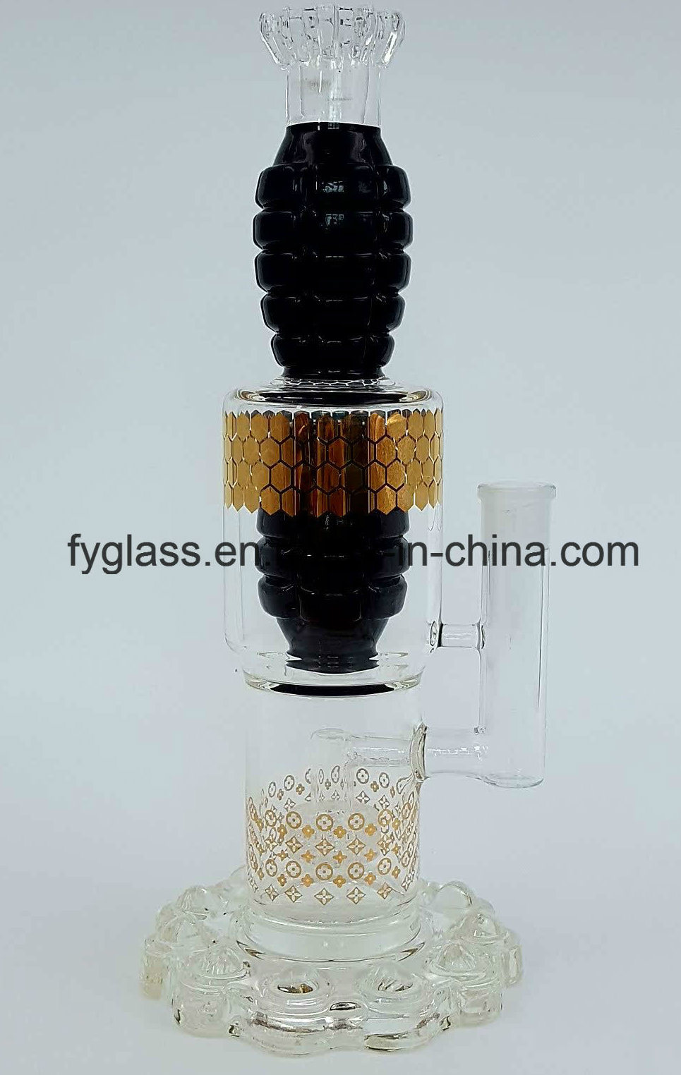 $20 Exclusive Grenade Glass Water Pipe Smoking Pipe with Heavy Bullet Base
