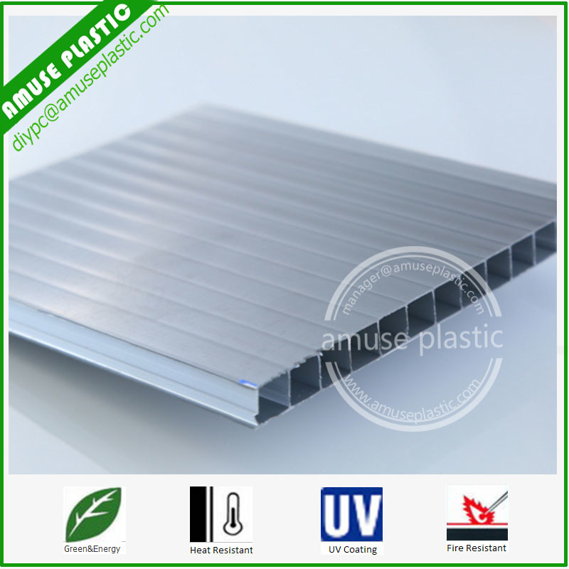 PC Twin-Wall Hollow Sheet Price Plastic PC Polycarbonate Sun Sheets