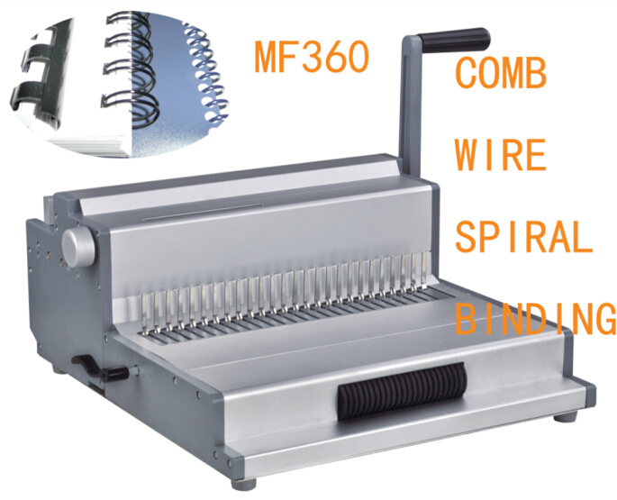 Combination Paper Comb Wire Spiral Binding Machine 3 In1 (MF360)