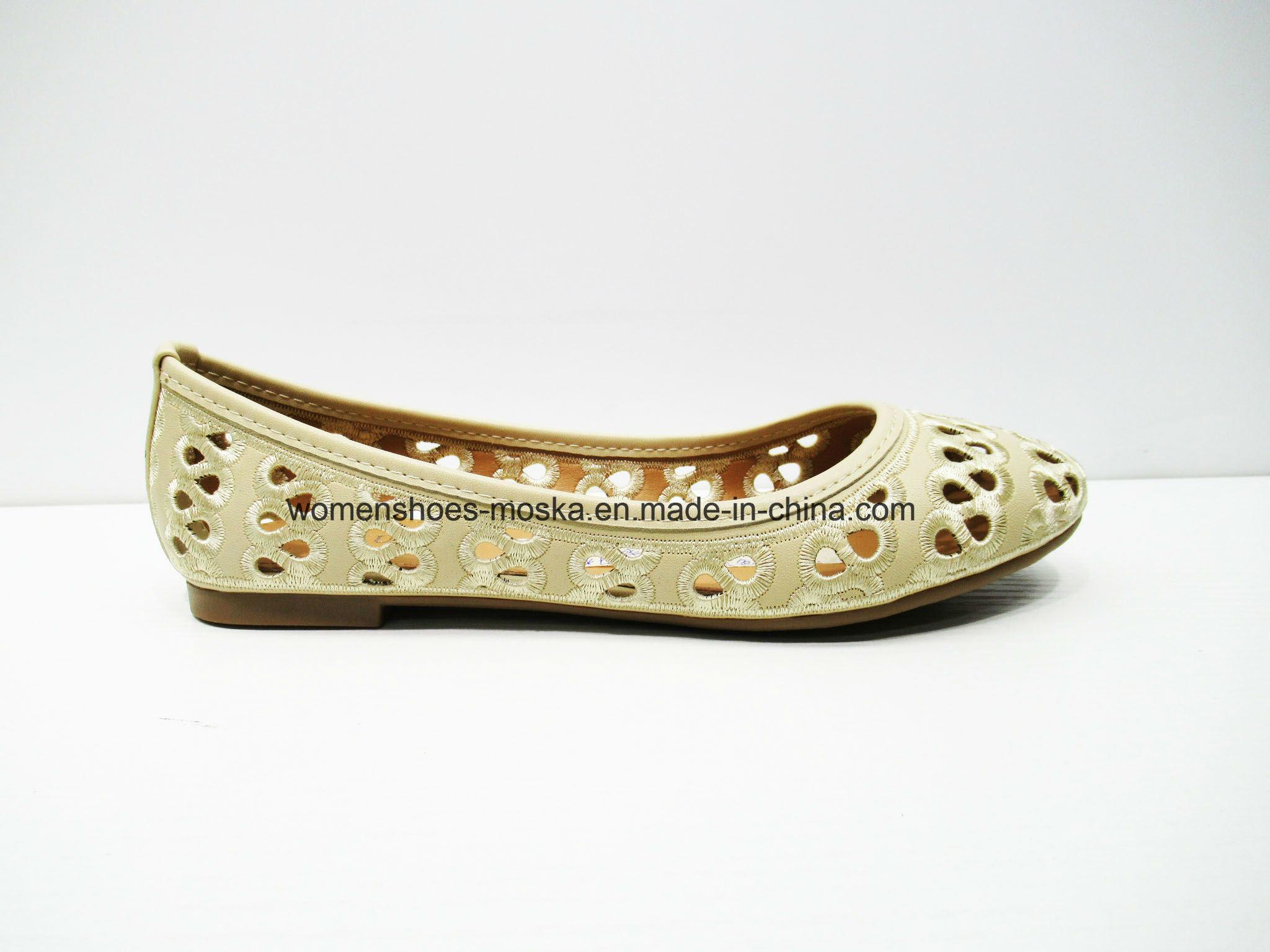 Comfortable Lady Fashion Flat Ballerina Footwear for Leisure