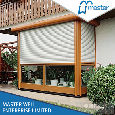 Aluminium Roller Shutter Window with Electric Control/Roller Shutter Window