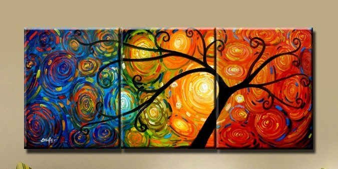 Handmade abstract painting multicolored to paint pinterest for Art painting for home decoration