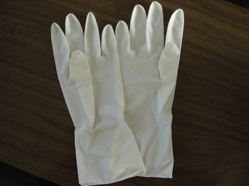 Nice! latex glove hand rash cure this view