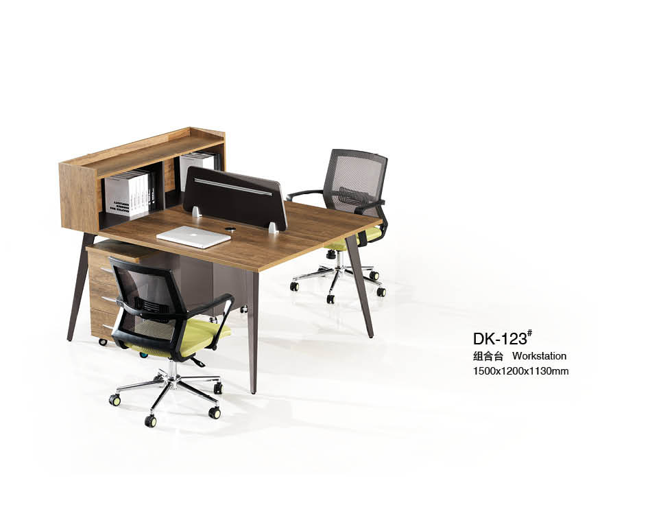 Brown MDF Office Desking Stystem with Partition
