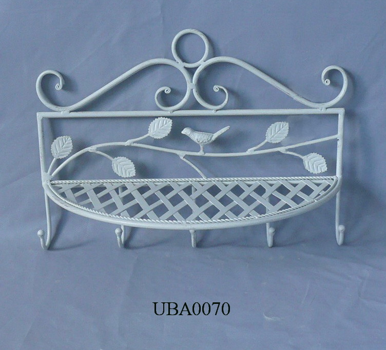 china metal bathroom shelf with hooks uba0070 china