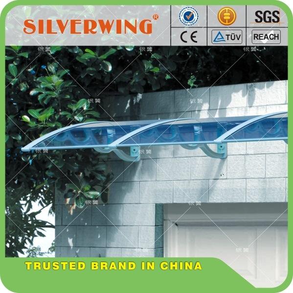 Polycarbonate Awning DIY Awning Door Canopy Window Awning Rain Awning Rain Shed Rain Shelter PC Awning