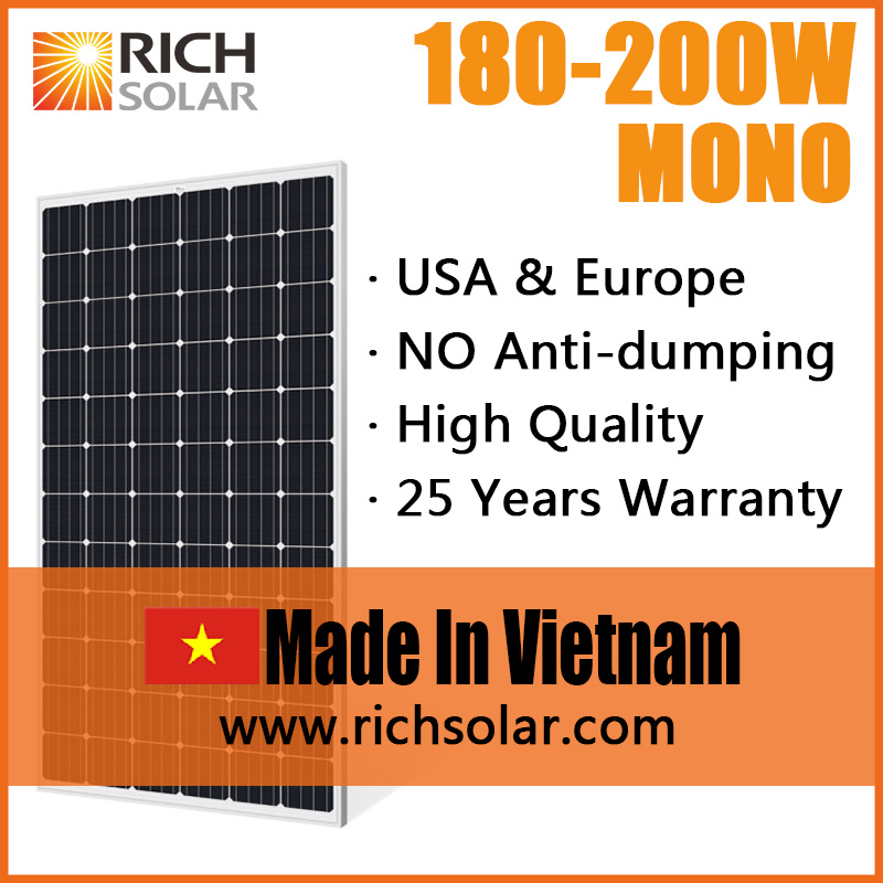 200W Solar Panel Manufacturers Solar Module Solar Power System