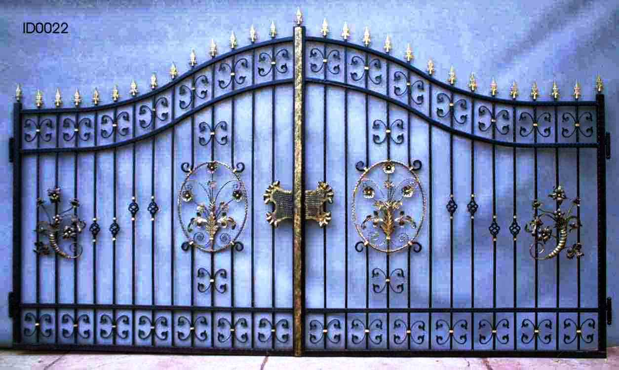 Fence metal gate