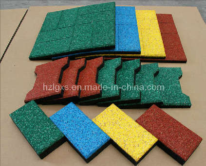 Colorful EPDM Dots Rubber Flooring Tile Carpet Rubber Tile