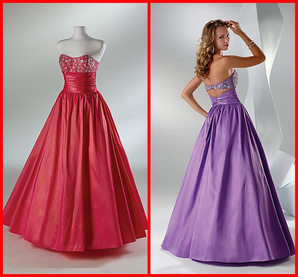 China elegant strapless a line taffeta embroidery evening for Night dress for wedding night