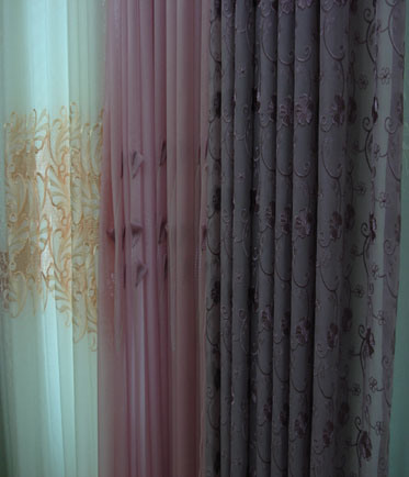 eBay - scarf valances sheer fabric organza curtains window