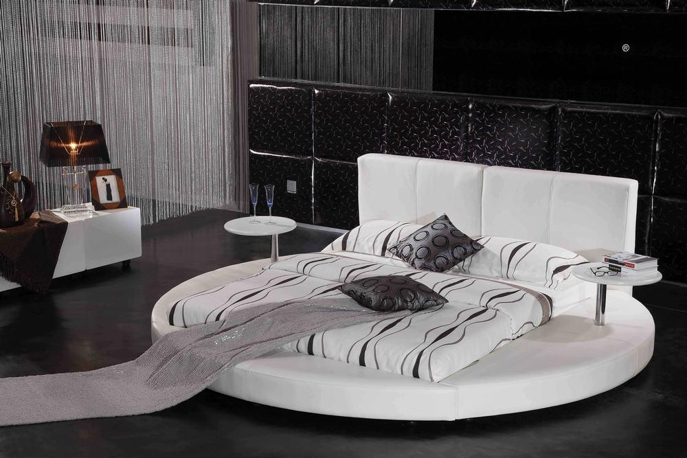 china leather round bed dy2 09390 china double bed