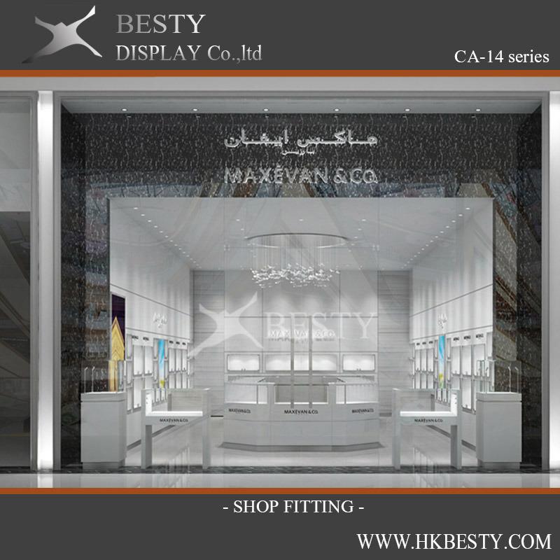 Jewelry Retail Store Display Case Kiosks