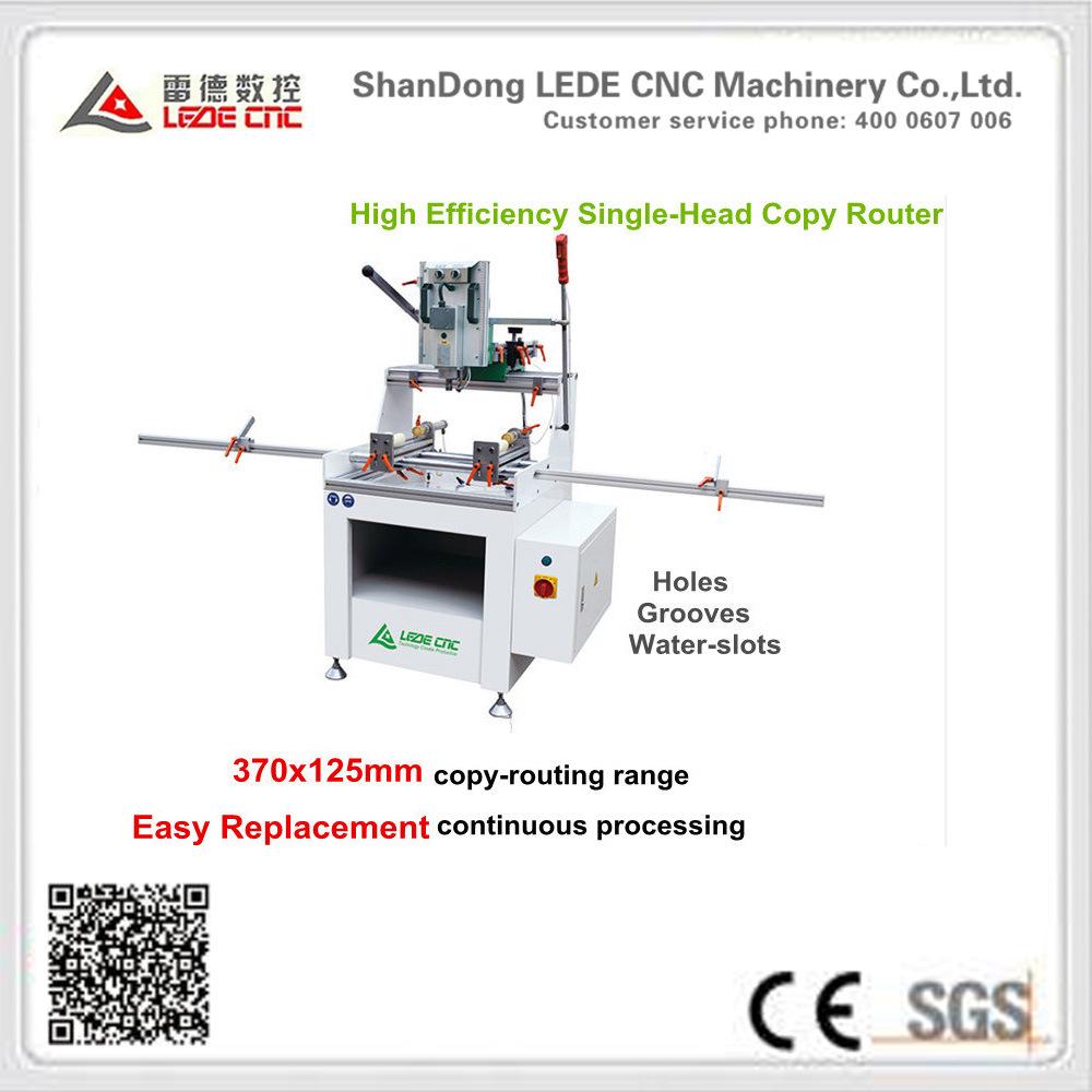 Aluminum Window Machine High Effeciency Single-Head Copy Router 370X125