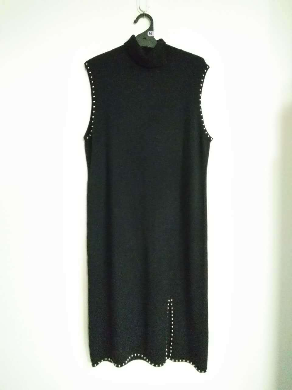 Trj014, 100%Cashmere, Women&Lady, Black, Good Quality, Dress