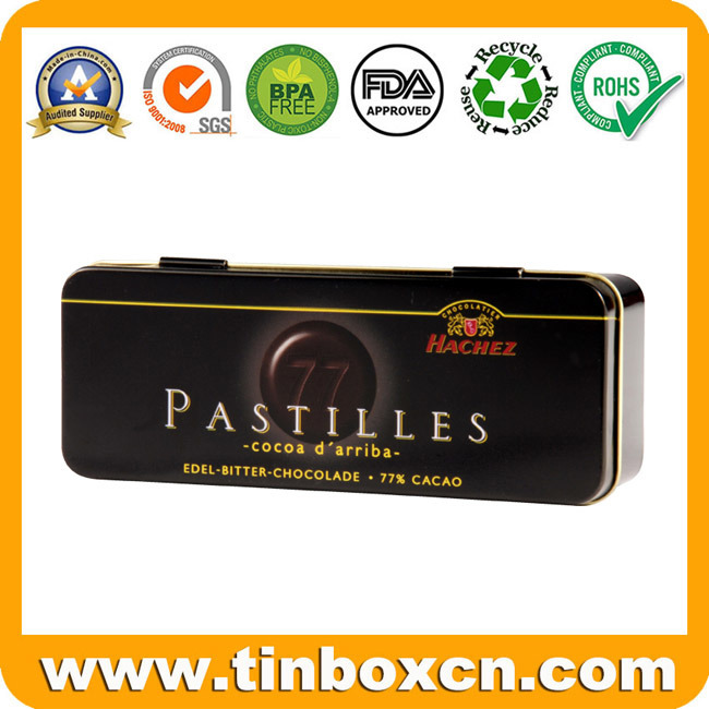 Hello Kitty Handle Metal Rectangular Gift Tin Box