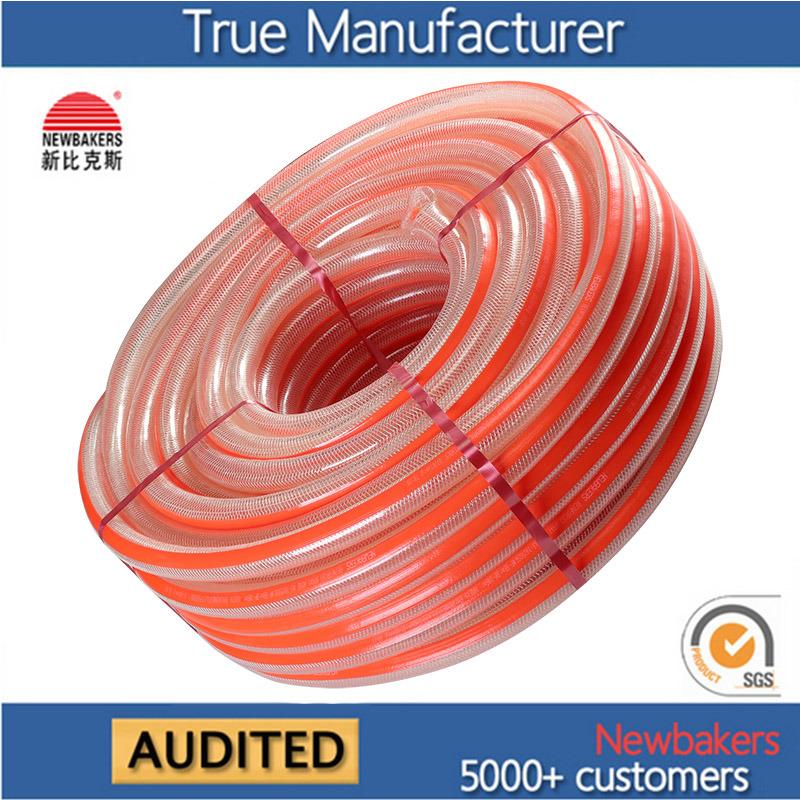PVC Braided Reinforced Fiber Nylon Hose Ks-1925nlg 50yards
