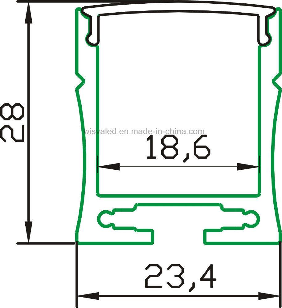 Hh-P032 LED Aluminum Profile for LED Linear Lights