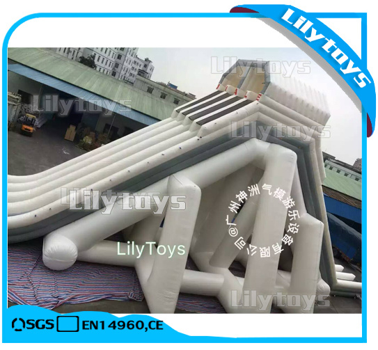 Giant Inflatable Moving Metal Frame Swimming Pool Game for Water Park (Lilytoys-wp-037)