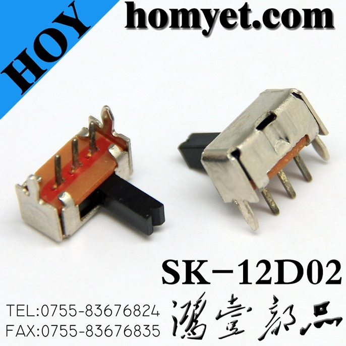 Right Angle Mini Switch Through Hole Type Spdt Slide Switches (SK-12F14)