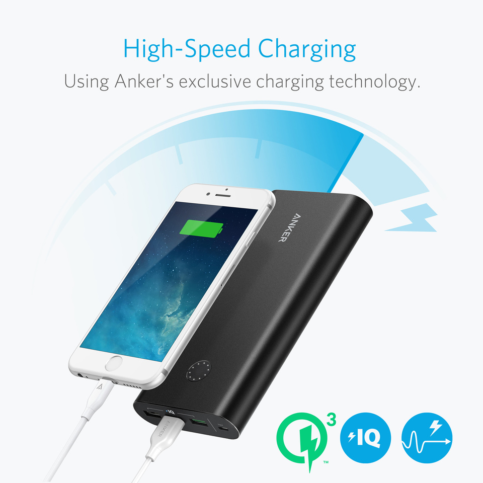Anker Powercore+ 26800 with Qualcomm Quick Charge 2.0 Anker Power Bank