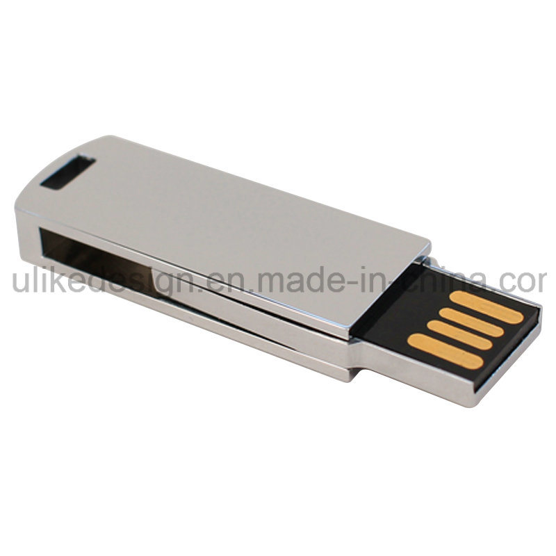 Silver Swivel/Twist Metal USB Flash Disk/ Flash drive with Your Logo