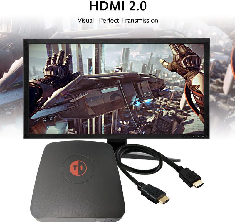 Newest Caidao Cws517 Amlogic S905X 1GB 8GB WiFi Bt4.0 H. 265 17.0 4k Smart TV Box