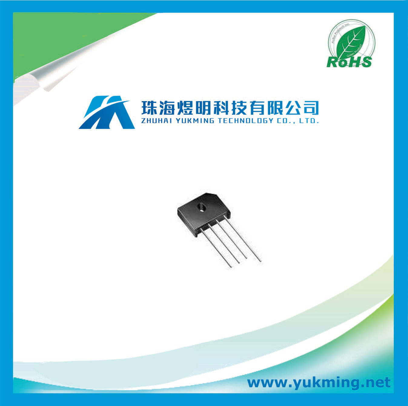 Electronic Component Full Bridge Rectifier Diode Rectifier Bridge for PCB