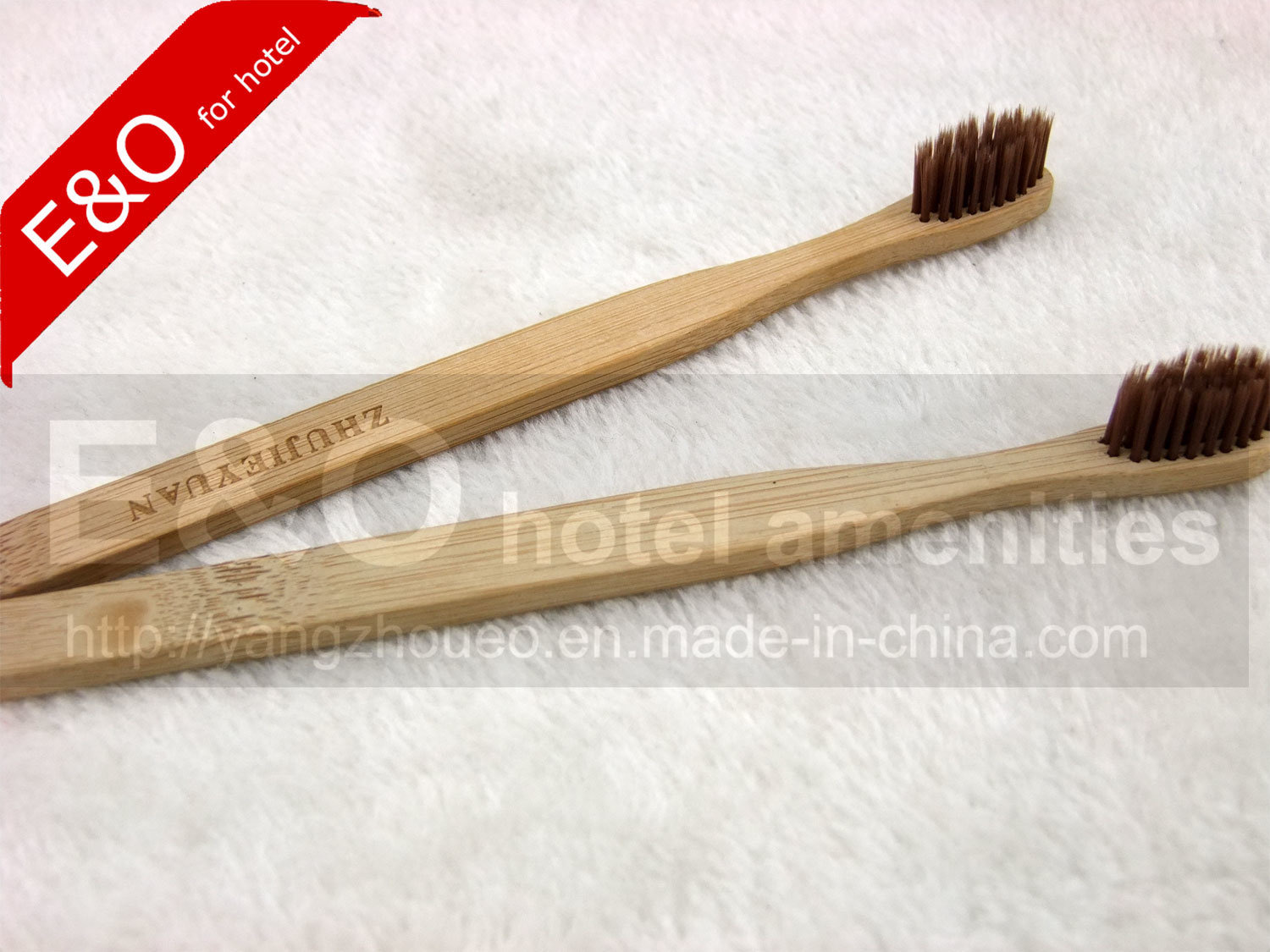 2-PC Set Eco-Friendly Bamboo Toothbrush with Bamboo Bristle