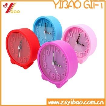 Wholesale Silicon Mini Colorful Table Alarm Clock
