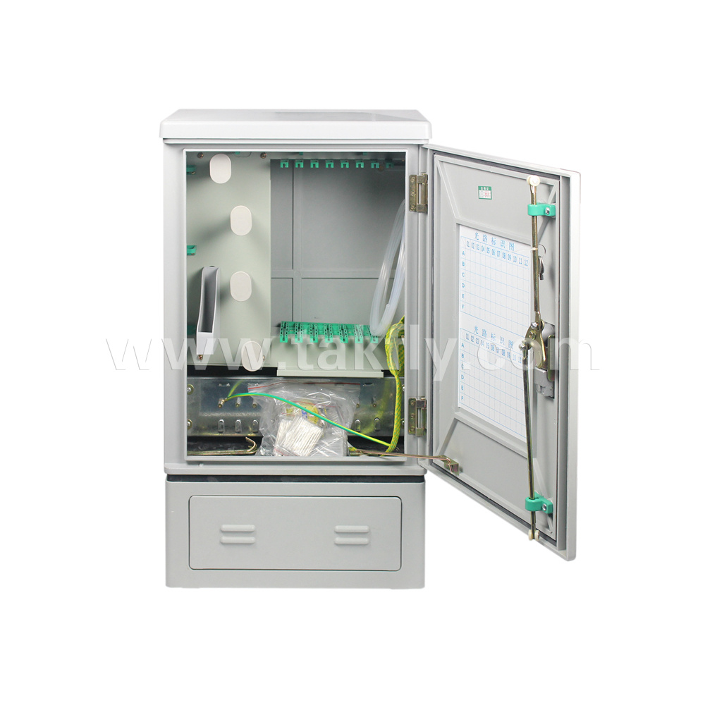 FTTH 96 Cores Floor Type Fiber Optic Outdoor Distribution Cabinet
