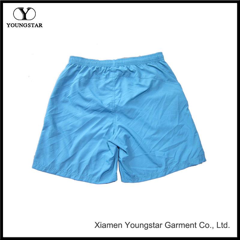 Blue Board Shorts Men′s Shorts Swim Trunks with Reflective Pockets