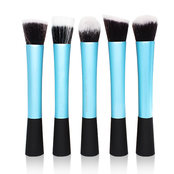 5PCS Big Professiona Foundation Powder Contour Blush Makeup Brushes Set